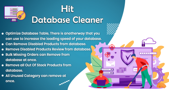 Hit Database cleaner for improve your opencart store
