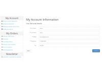 Account Dashboard Page Pro