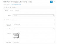 Order Invoice & Shipping Slip in HIT PDF Format